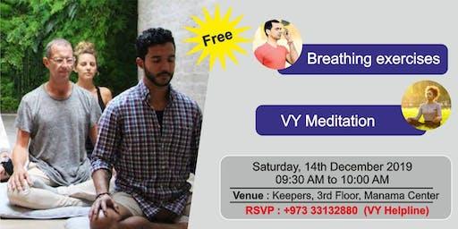 Free Breathing Exercises and Meditation Session