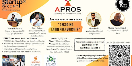 Decoding Entrepreneurship Workshop tickets