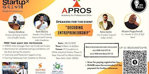 Decoding Entrepreneurship Workshop