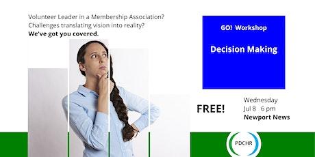 PDCHR GO! Workshop—Decision Making tickets