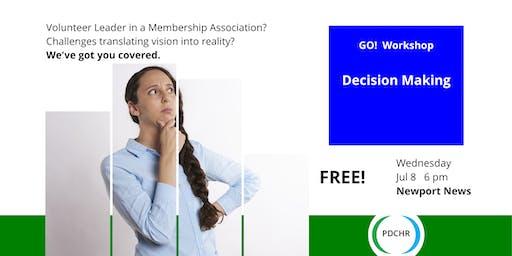 PDCHR GO! Workshop—Decision Making