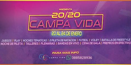 CAMPA VIDA 2020 entradas