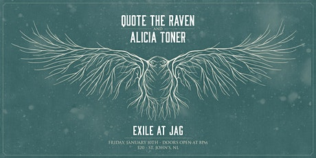 Quote the Raven & Alicia Toner live at Exile at Jag tickets
