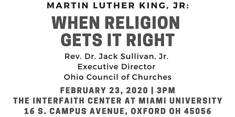 When Religion Gets It Right: Martin Luther King, Jr. tickets