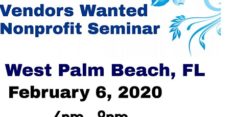 Vendors Wanted West Palm Beach, FL tickets
