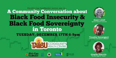 Black Food Sovereignty Initiative of Toronto - Community Conversation tickets