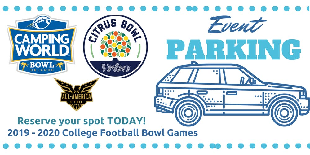 Bowl Games Jan 1 2020.Event Parking Orlando Citrus Bowl 2020