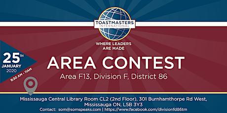 AreaF13 International Speech&Evaluation Contest Toastmasters International tickets