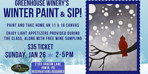 Winter Canvas Paint and Sip