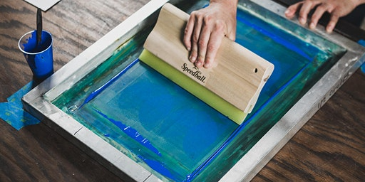 Screen Printing Session — Stencil Cut Posters