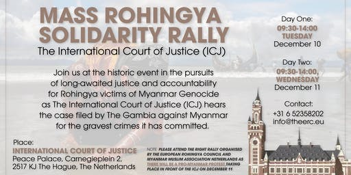 Mass Rohingya Solidarity Rally | International Court of Justice