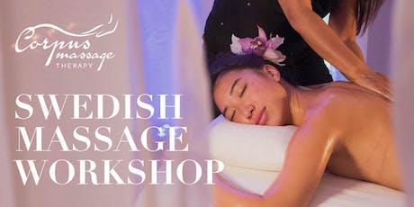 Swedish Massage Workshop tickets