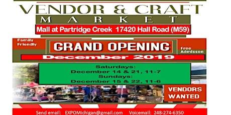 Vendors & Craft Market - Partridge Creek Mall, December 21, 2019 tickets