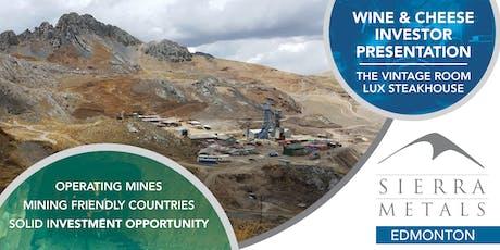 Sierra Metals Investor Presentation - Richmond tickets
