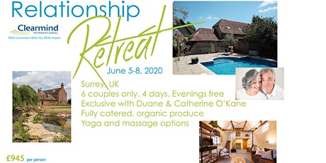 All inclusive 4 day Relationship Retreat - 6 couples only £945 per person tickets