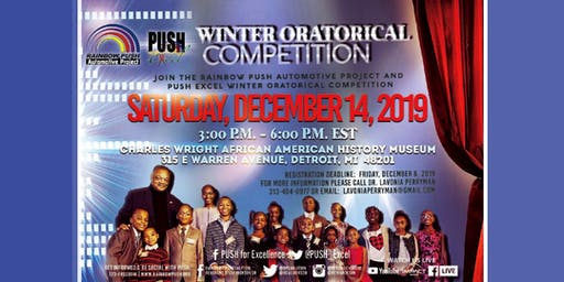 "PUSH Excel ""400 Years and Still Rising"" Youth Oratorical  Competition"