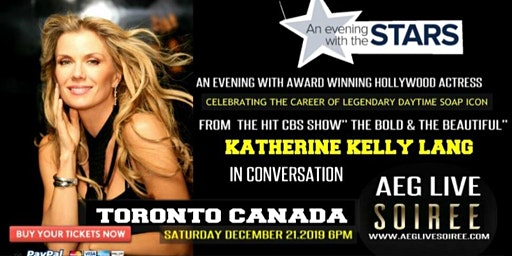 AN EVENING WITH BOLD & THE BEAUTIFUL KATHERINE KELLY LANG IN TORONTO DEC 21