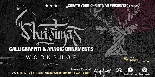 Calligraffiti Workshop   Create your Christmas presents