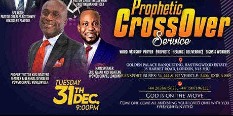 Prophetic Cross Over service 2019 tickets
