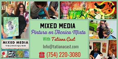 Mixed Media 101- Painting workshop with Tatiana Cast