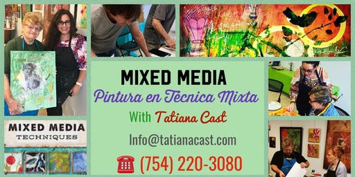 Mixed Media 101- Painting workshop with Tatiana Cast