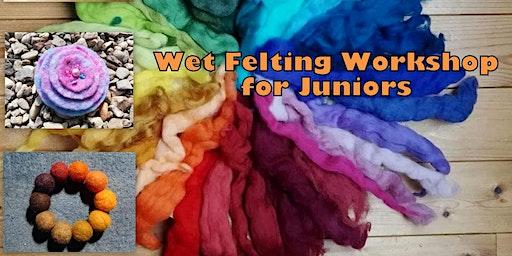 Wet Felting for Juniors aged 8yrs +