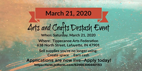 Arts and Crafts Destash Event tickets