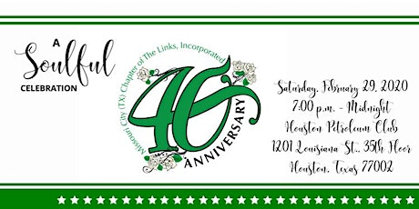 The Missouri Chapter of The Links, Inc. 40th Anniversary Celebration tickets