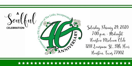 The Missouri Chapter of The Links, Inc. 40th Anniversary Celebration