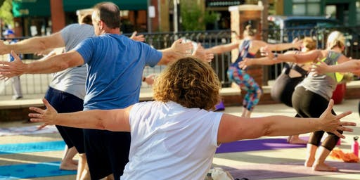 All-Levels Patio Yoga Class - [Bottoms Up! Yoga & Brew]