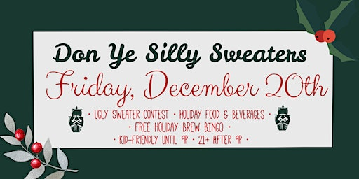 Silly Sweater Celebration - with Ugly Sweater Contest and Holiday Bingo