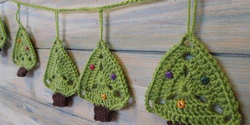 Christmas Tree Bunting - Crochet Workshop