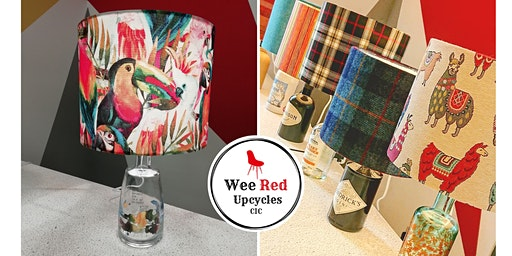 Upcycled Bottle Lamp and Lampshade Workshop - Wed 19th Feb 6.30-8.30pm