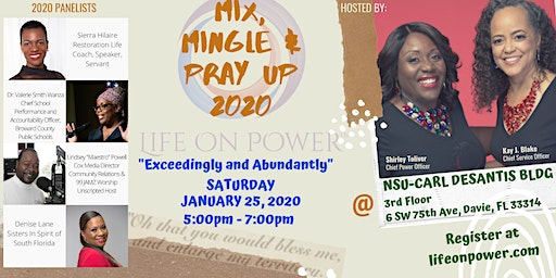 Mix, Mingle and Pray UP 2020 - Life On Power