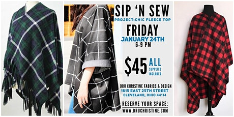 Sip N Sew January:  Chic Fleece Top tickets