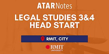 VCE Legal Studies Units 3&4 Head Start Lecture tickets