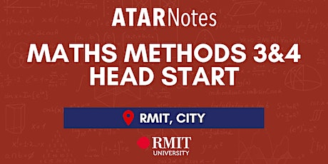 VCE Maths Methods Units 3&4 Head Start Lecture - REPEAT 1 tickets