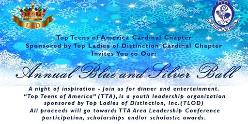 Top Teens of America Cardinal Chapter Blue & Silver Ball