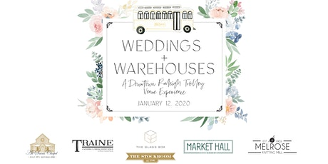 Weddings + Warehouses: A Downtown Raleigh Trolley Venue Experience tickets