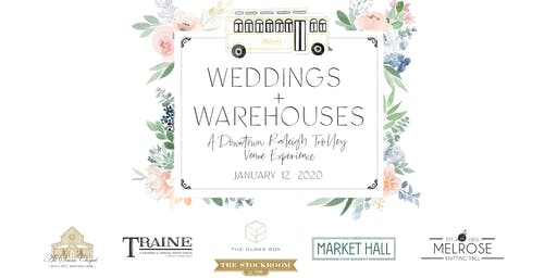 Weddings + Warehouses: A Downtown Raleigh Trolley Venue Experience