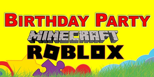 Minecraft, Roblox or Gaming Birthday Party