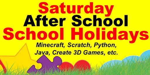 Saturday and School Holiday Computer Class Minecraft, Coding etc
