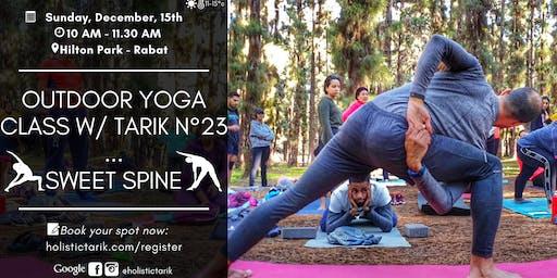 Outdoor yoga class in Rabat n°23: Sweet Spine