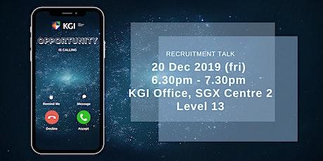 Recruitment Talk tickets