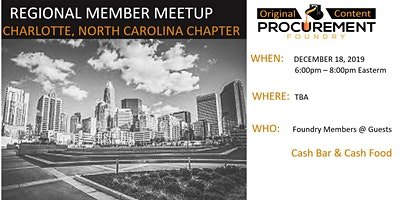 Charlotte, North Carolina Member Meetup December-2019