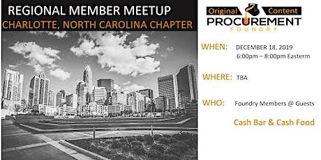 Charlotte, North Carolina Member Meetup December-2019 tickets