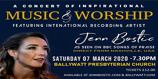 A Concert of Inspirational Music & Worship with Jenn Bostic