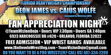 ***FREE*** I Believe in Wrestling - FAN APPRECIATION NIGHT tickets
