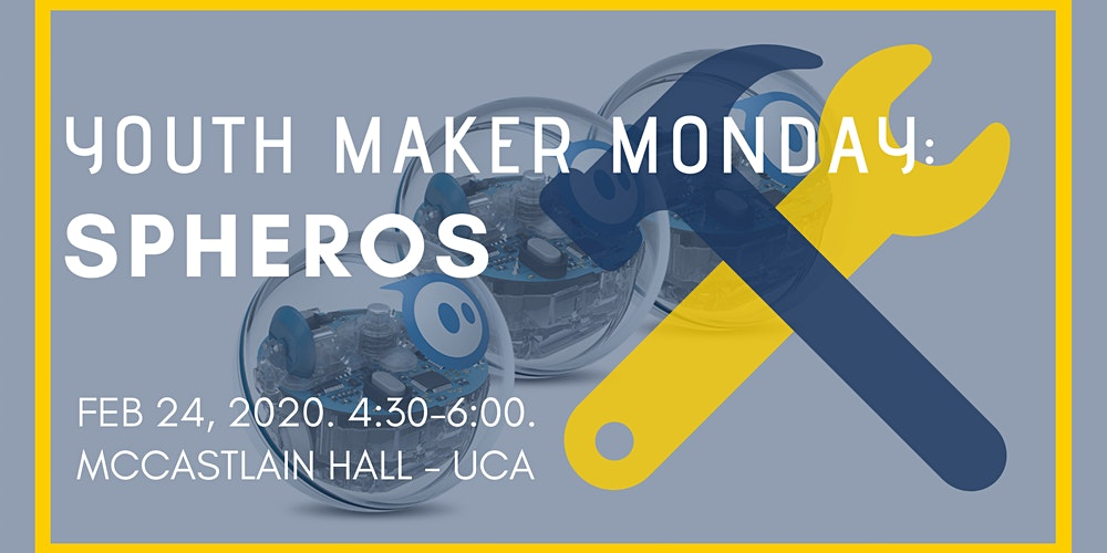 Youth Maker Monday: Spheros Tickets, Mon, Feb 24, 2020 at 4 ... on uca campus layout, fullerton zip code map, ualr campus map, university of houston victoria campus map, uca campus virtual, uca campus dorms, conway county arkansas township map, north central college campus map,