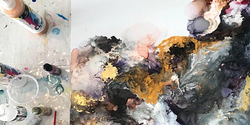 SOLD OUT - Alcohol Inks/Mixed media masterpiece Workshop